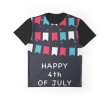 Happy Independence Day Poster, 4th of July. Graphic T-Shirt