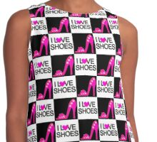 CHIC AND TRENDY I LOVE SHOES DESIGN Contrast Tank