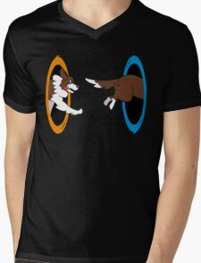 The Tail Chase Mens V-Neck T-Shirt