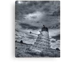 Straw Dalek b&w Canvas Print