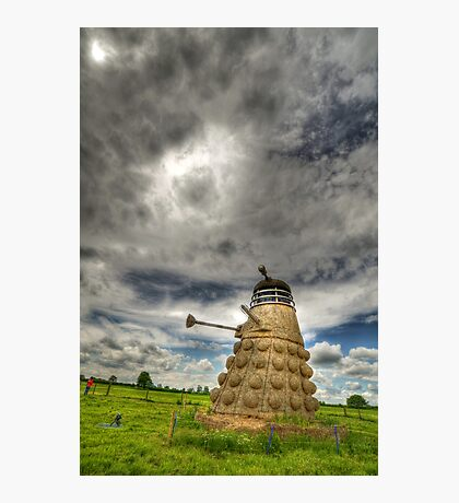 Straw Dalek Photographic Print