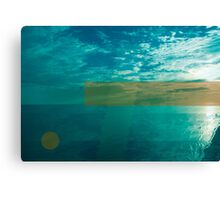 Glitched sunset Canvas Print