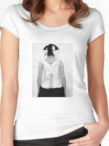 Mysterious Vintage Woman in Corset Women's Fitted Scoop T-Shirt