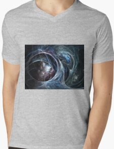 Spider's cave - Abstract Fractal Artwork Mens V-Neck T-Shirt