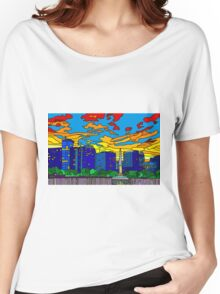Orlando Pride Cityscape (No Title) Women's Relaxed Fit T-Shirt
