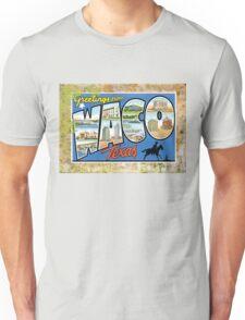 Waco Texas Vintage Souvenir Post Card Unisex T-Shirt