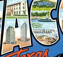 Waco Texas Vintage Souvenir Post Card Sticker