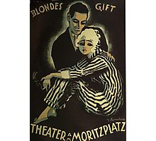 Blonde Poison - Silent Movie poster Photographic Print
