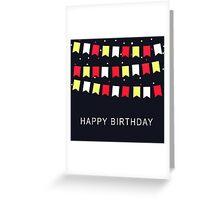 Vintage Birthday Card Greeting Card