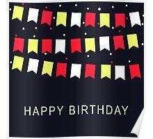 Vintage Birthday Card Poster