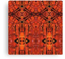 Red Abstract Art - Warm Garden 2 - By Sharon Cummings Canvas Print