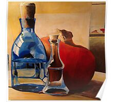 Pumpkin and Blue Bottle Poster