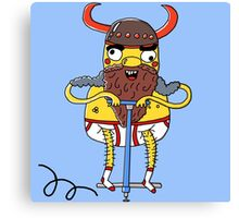 Pogostick Viking Canvas Print