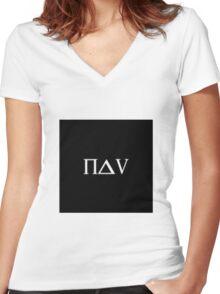 Nav  Women's Fitted V-Neck T-Shirt