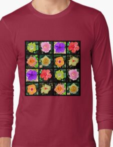 BEAUTIFUL FLOWER PHOTO COLLAGE Long Sleeve T-Shirt