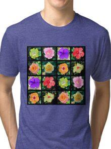 BEAUTIFUL FLOWER PHOTO COLLAGE Tri-blend T-Shirt