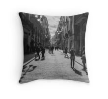 Streets of Barcelona Throw Pillow