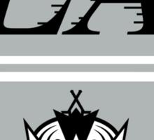 LA Kings Retro Logo Mashup Sticker