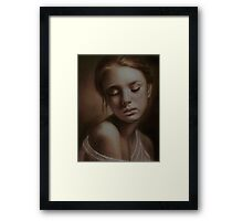 Earthshine Framed Print