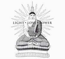 Buddha Light Love Power Kids Tee