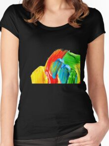 Brushstrokes vers. 1 Women's Fitted Scoop T-Shirt