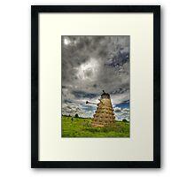 Straw Dalek (3) with boy Framed Print