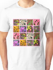 COLORFUL WILD FLOWER PHOTO COLLAGE Unisex T-Shirt