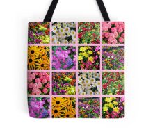 COLORFUL WILD FLOWER PHOTO COLLAGE Tote Bag