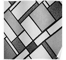 Square Cloth Texture 2BW Poster