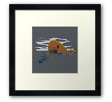 PAC-MOBY Framed Print