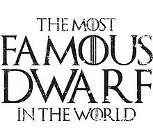 The most famous dwarf in the world Photographic Print