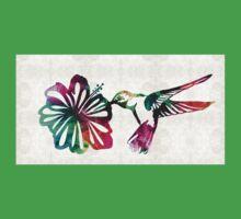 Hummingbird Art - Tropical Chorus - By Sharon Cummings Baby Tee