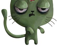 Cute Zombie Cat by colonelle