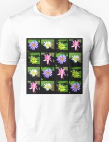 COLORFUL WATER LILY PHOTO COLLAGE Unisex T-Shirt
