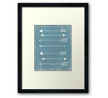 Rustic Modern Arrows Framed Print