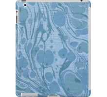 Blue Swirls Cloth Texture iPad Case/Skin