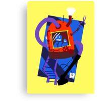 Vacuum robot robot Canvas Print