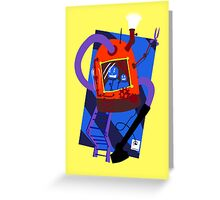 Vacuum robot robot Greeting Card