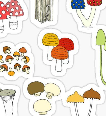 Mushroom families Sticker