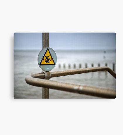 Caution ! Canvas Print