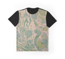 Peachy Green Blue Swirls Cloth Texture Graphic T-Shirt
