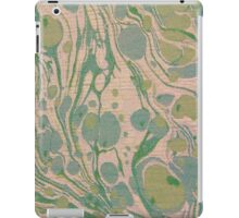 Peachy Green Blue Swirls Cloth Texture iPad Case/Skin