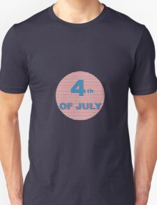 American Independence Day lettering design. A template background for greeting cards, posters, leaflets and brochure. Unisex T-Shirt