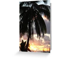 Sunset in Aitutaki, Cook Islands, South Pacific Greeting Card