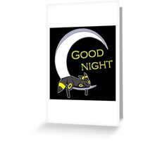 Good Night, Moonlight Pokemon Greeting Card