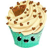 Cute Kawaii Vanilla Cupcake by colonelle