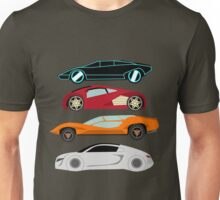 The Car's The Star: Future Cars Unisex T-Shirt
