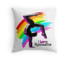 BEAUTIFUL RAINBOW GYMNASTICS DESIGN Throw Pillow