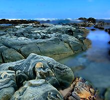 Primary Blue Rocks by Angelika  Vogel