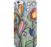 Floral on Gray  iPhone Case/Skin